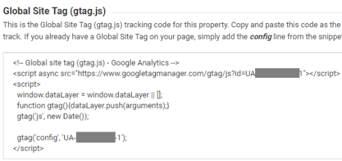 Google Analytics Tracking Code (GATC) Sample - Global Site Tag (gtag.js)