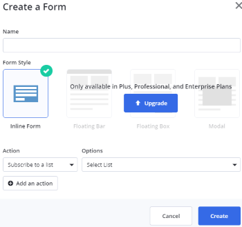 Create a form (ActiveCampaign)