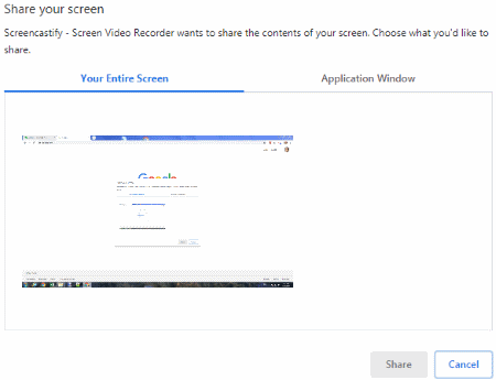 Screencastify record desktop entire screen