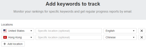Add Keywords to Track (Ahrefs)