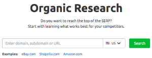 Organic Research Tool (SEMrush)