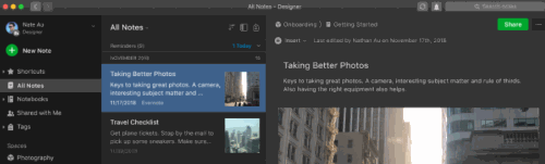 Evernote Dark Mode Theme (Interface)