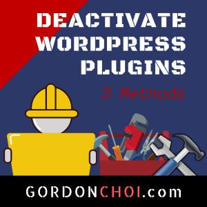 Deactivate Plugins WordPress