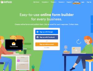 JotForm Homepage