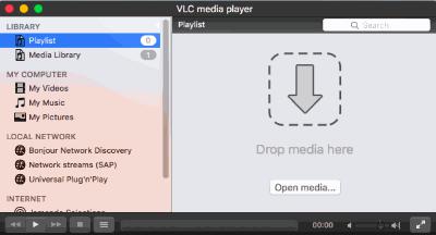 Mac VLC Player - Open Media