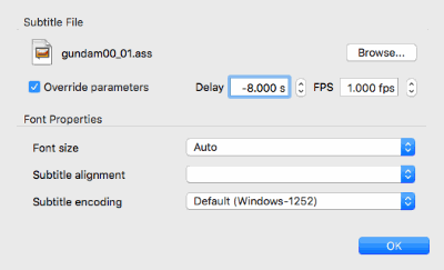 Mac VLC - Subtitle Track Time Delay