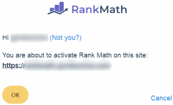 Activate Rank Math for Website