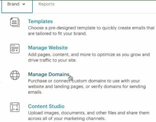Manage domains (Mailchimp)