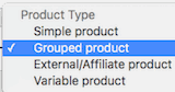 Product Type, Create Grouped Product