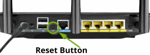 Reset Button - ASUS Router