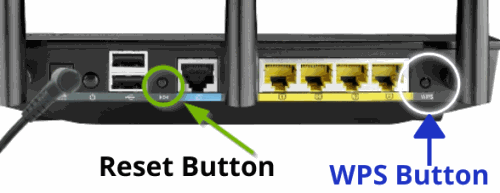 WPS Button & Reset Button - ASUS Router