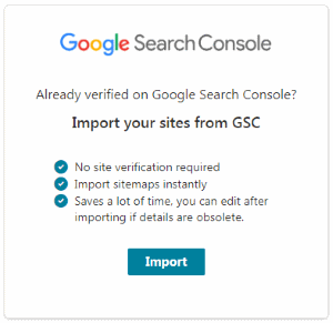 Import All Sites to Bing from Google Search Console