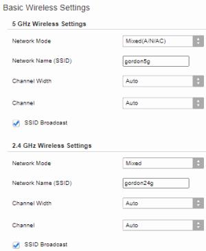 Basic Wireless Settings (Linksys Router)