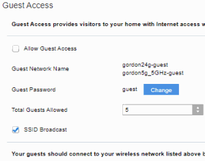 Wi-Fi Guest Access (Linksys Router)